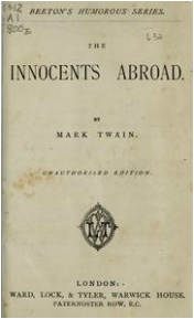 book cover of The Innocents Abroad
