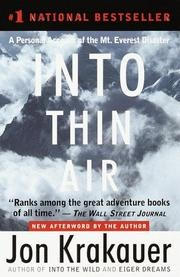 book cover of Into Thin Air