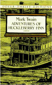 book cover of Adventures of Huckleberry Finn