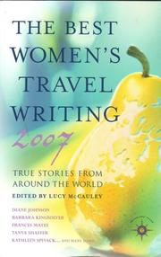 book cover of The Best Women's Travel Writing 2007
