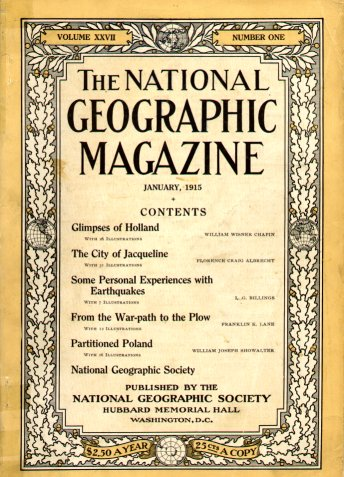 National Geographic Magazine cover from 1915