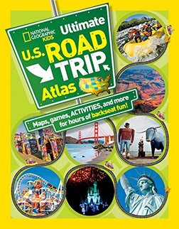 book cover for National Geographic's U.S. Road Trip Atlas